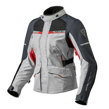 REV'IT! OUTBACK 2 donne MOTO TESSUTO GIACCA ARGENTO ROSSO REV IT REVIT