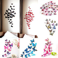 12 PC 3d Mariposa Imán Nevera Adhesivo Pared Cuarto De Estar Decoración Adhesivo