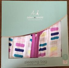 ADEN + ANAIS WINK 100% COTTON MUSLIN SLEEPING BAG  ~ 0-6 MONTHS ~ NWT