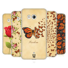HEAD CASE DESIGNS MONARCH BUTTERFLY PRINTS HARD BACK CASE FOR HTC U11 / DUAL