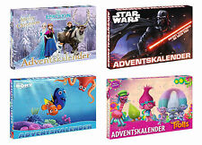 calendario de Adviento Navidad Disney Frozen Star Wars Finding Dory TROLLS
