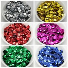 2000 CUP Round loose sequins Paillettes 10mm sewing Wedding craft Colour Choice