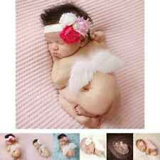 Baby Newborn Angle Feather Wing And Headband Photograph Prop Infant Clothes Suit