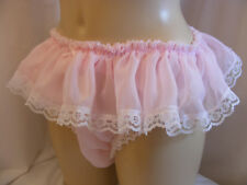 sissy sheer chiffon frilly lace panties mens lingerie knickers all sizes colours