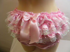sissy silky satin ruffle bum  panties mens lingerie knickers all sizes colours