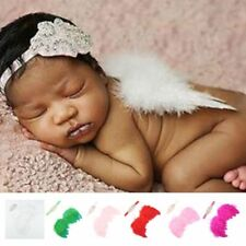 Baby Newborn Feather Wing  Headband Photograph Prop Suit Infant Clothes Suit