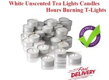 Candles Tea Lights White Unscented Burning Candles T-Lights