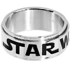 Licensed Star Wars Logo Stainless Steel Spinner Ring FREE GIFT and SHIPPING