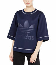 adidas Originals Women NMD Reversible Trefoil Logo Sweatshirt Top Neoprene Tee