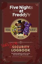 Five Nights At Freddy's: Survival Logbook by Scott Cawthon Hardcover Book Free S