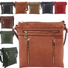 New Zipper Detail Faux Leather Women's Small Crossbody Bag Handbag