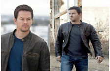 Contraband Mark Wahlberg's Men Slim Fit Distressed Cow Hide Real Leather Jacket