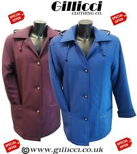 Ladies Warm Quilted Padded Winter Hooded Coat Jacket