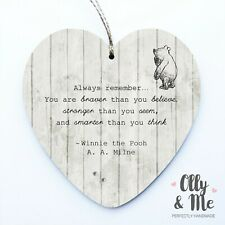 584403766ee3 Wooden Winnie the Pooh Fan Inspirational Quote Plaque Sign Friend Birthday  Gift