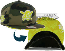 Pittsburgh Pirates Floral Camo New Era 9FIFTY Snapback Cap Hat Woodland Camo NEW