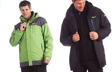 Regatta Whitestone 3in1 Chaqueta Hombre Impermeable Isotex 5000 Negro Verde