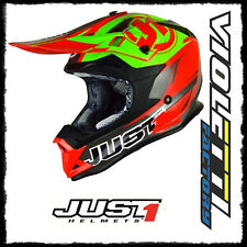 CASCO HELMET CROSS J32 PRO RAVE RED LIME JUST1 CROSS ENDURO