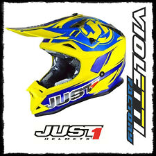 Casco Cross | Enduro JUST1 J32 Pro Rave blue | yellow