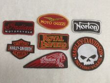 Motorbike Motorcyclist Biker Patches / Badges - Embroidered - Sew On Breast