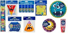 Childrens Kids Birthday Monster Party Tableware, Invitations,bunting, plates etc