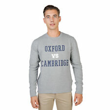 Felpe Oxford University OXFORD FLEECE CREWNECK, Uomo Grigio/Blu Autunno/Inverno
