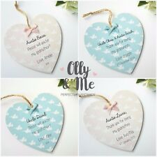 Personalised Wooden Godparent Thank You Christening/Baptism Gift Plaque/Heart