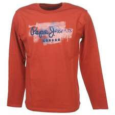 Tee shirt manches longues Pepe jeans Golders rouge ml tee jr Rouge 59507 - Neuf
