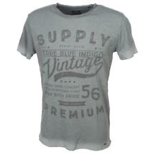 Tee shirt manches courtes Solid Geoffrey grc mc tee Gris 28189 - Neuf
