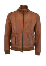 GIUBBINO VERA PELLE CUOIO UOMO LEATHER REAL LEATHER JACKET