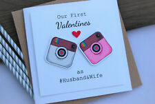 Our First Valentines as Husband and Wife Card Husband Wife Instagram Valentine