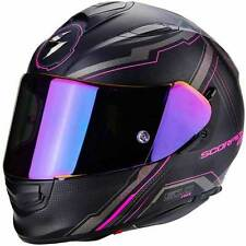 SCORPION EXO 510 AIR SYNC NERO OPACO Pink Ladies CASCO INTEGRALE MOTO