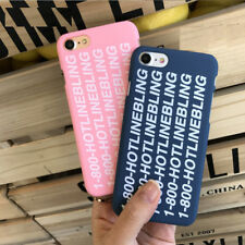 Canard 1-800 HOTLINE BLING Deluxe Rose/Bleu Housse Etui iPhone 5/5s 6/6s 7 8