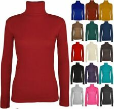 New Women's Ladies Long Sleeves Turtle Polo Neck Top