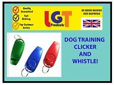 MULTI CLICKER WHISTLE EASY DOG PUPPY PET TRAINING Obedience Agility Keyring UK!.