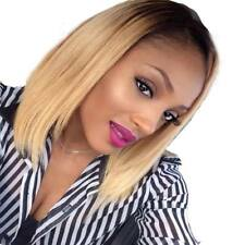 Brazilian Lace Front Glueless Bob Human Hair Wig Ombre