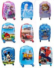 Disney Kids Hard Shell Suitcase Cabin Trolley 4 Wheel Holiday Luggage in 7 Style