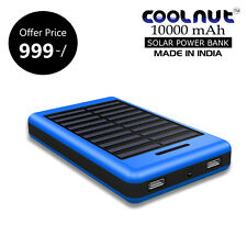 COOLNUT 10000mAH Solar Power Bank  for All Phones +1 Year Warranty