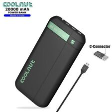COOLNUT RUBBER COATED POWER BANK 20000mAH  for All Smartphone + 1 Year Warranty