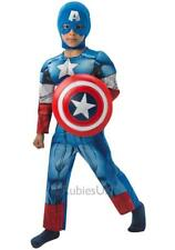 Boys Marvel Avengers Deluxe Captain America Fancy Dress Costume with sheild