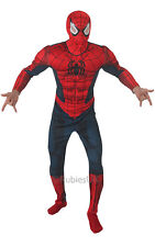 Adult Marvel Superhero Deluxe Spiderman Mens Fancy Dress Costume Party Outfit