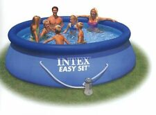 Intex Piscina Set: Pool 366x91 cm . Bomba + lona + Protección Suelo + 6filter