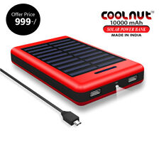 COOLNUT SOLAR POWER BANK 10000mAH For  All mobiles+ 1 YEAR WARRANTY