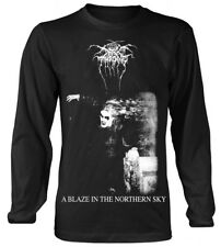 DARKTHRONE' A blaze in the Northern Sky' Long Sleeve Shirt - NUOVO E ORIGINALE