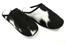 Mens Ladies Genuine leather,Sheepskin,Mule Slippers,Made In The UK Size 11