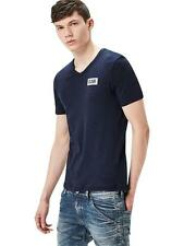 G-Star Herren T-Shirt Drillon V- Neck - Slim Fit - Blau - Sartho Blue