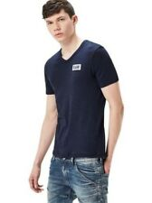 G-Star Maglietta Uomo drillon V- COLLO - slim fit - Blu - SARTHO BLUE