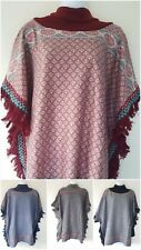 Ladies one size autumn winter stylish ponchos/shawls