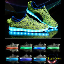 Adults Unisex Colorful Glowing Shoes Lace Up Luminous Shoes Sneaker Casual Shoes