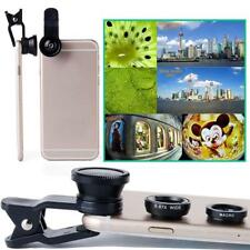 Universal 3 in 1 Fish Eye Wide Angle Macro Camera Clip-on Lens for Phone