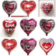 Heart Valentine Balloons I Love You Red Air or Helium Foil Balloon VALENTINE DAY